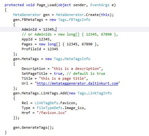 Meta tag generator - 1