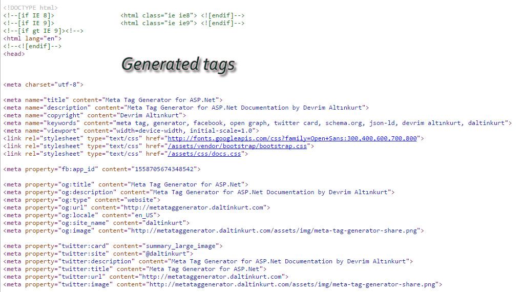 Meta tag generator - 4